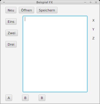 Eine Anwendung, die an einen einfachen Texteditor erinnert.