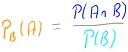 P_B(A)=(PA und B) / P(B)