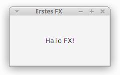 """Ein Fenster mit dem Text """"Hallo FX!"""""""