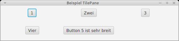 Eine Anwendung mit TilePane-Layout.