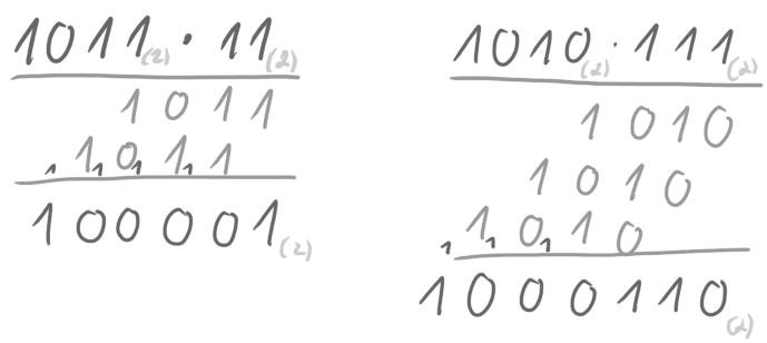 Beispielrechnungen zur Multiplikation